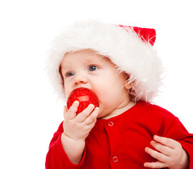 Baby with Christmas decoration