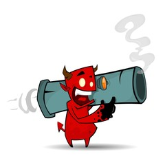 Devil with bazooka