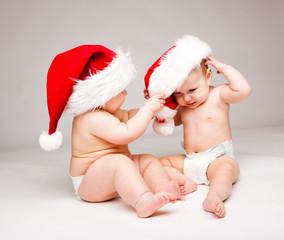 Pulling Santa hat