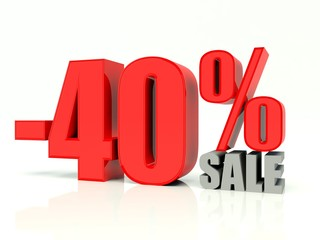 Fourty percent off sale