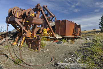 Logging equipment destroyed in Mt. St. Helens erruption