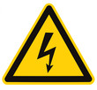 Danger Electrical Hazard High Voltage Sign Isolated Triangle