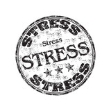 Stress grunge rubber stamp poster
