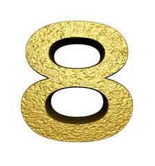 3d gold number