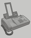 Rendering of a multi-function telephone. poster