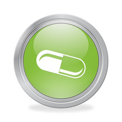 Bottone 3D Pillola