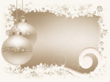 White gold Christmas background