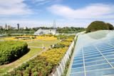 Ecological modern building .Warsaw University.Europe.