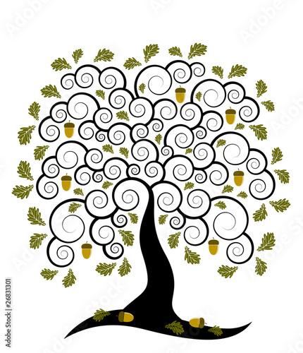 Naklejka oak tree
