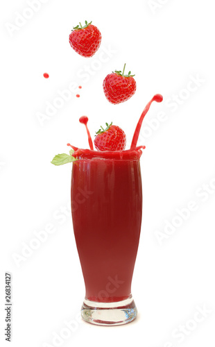 Berry smoothie splash
