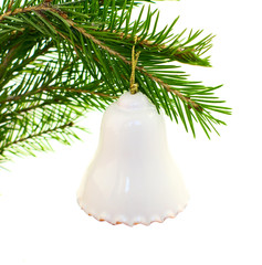 bell on fir branch