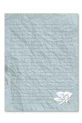 Blue note paper