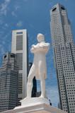 Sir Raffles statue, Singapore poster