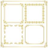 gold frame corner decoration