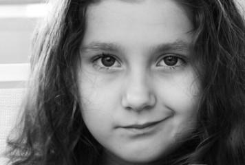 Closeup of a cute small girl