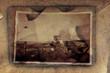 Altes Foto auf altem Papier