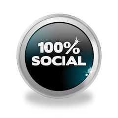 Bottone 3D 100% Social