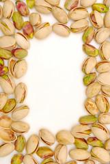border of pistachio nuts