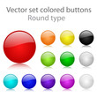 Vector set colored buttons round type
