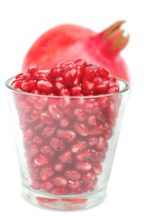 Pomegranate and  tumbler