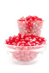Pomegranate in glass