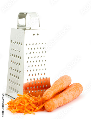 Grater and carrots