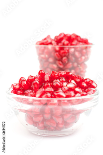 Pomegranate in glass