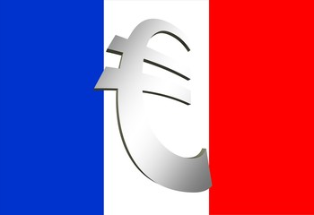 Drapeau France et symbole Euro