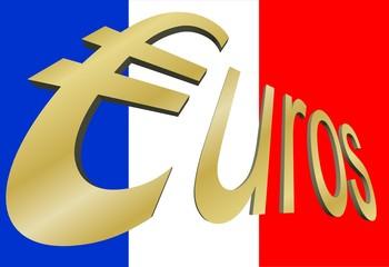 Drapeau France Euros