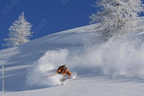 Papiers peints Glisse hiver Ski hors piste