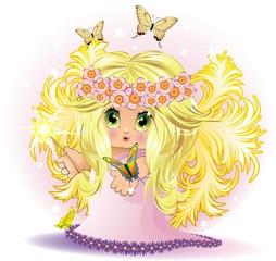 Fata Bambina-Baby Fairy-Vector