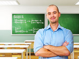 Fototapety confident teacher