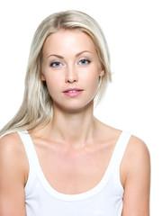 Face of  beautiful  blondу woman