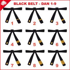 BLACK BELT-SIMBOL MARTIAL ARTS .