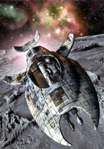 statek-kosmiczny-i-ksiezyc