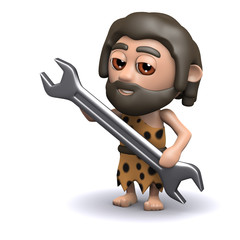 3d Caveman mechanic