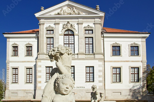 Museum of Frederick Chopin. Baroque palace in Warsaw.