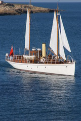 Classic Wooden Super Yacht at sail