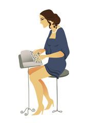 romantic typist