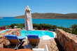Swimming pool by luxury villa, Crete, Greece