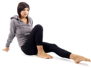 Woman Stretching. Model Released