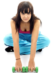 Young Woman Exercising. Model Released