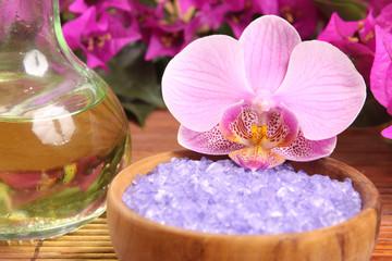 huile et orchidée
