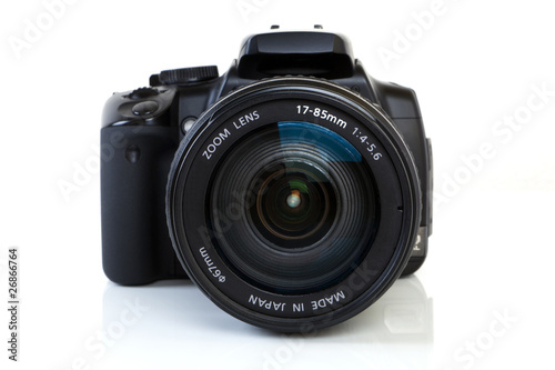 Leinwandbild Motiv DSLR Camera - front view