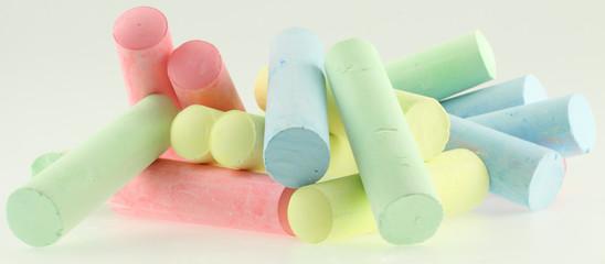 bâtons de craies de couleurs