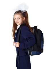 schoogirl with backpack