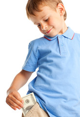 Child with dollars