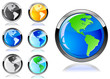 colorful earth icon set