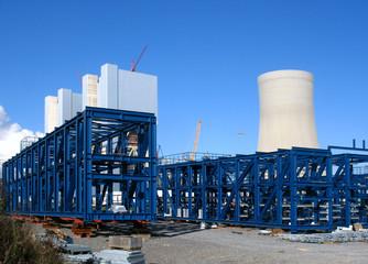 Neubau eines Braunkohlekraftwerkes