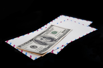 dollars lies on an envelope